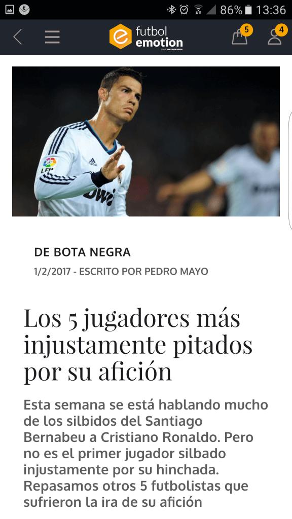 futbol emotion app publicaciones