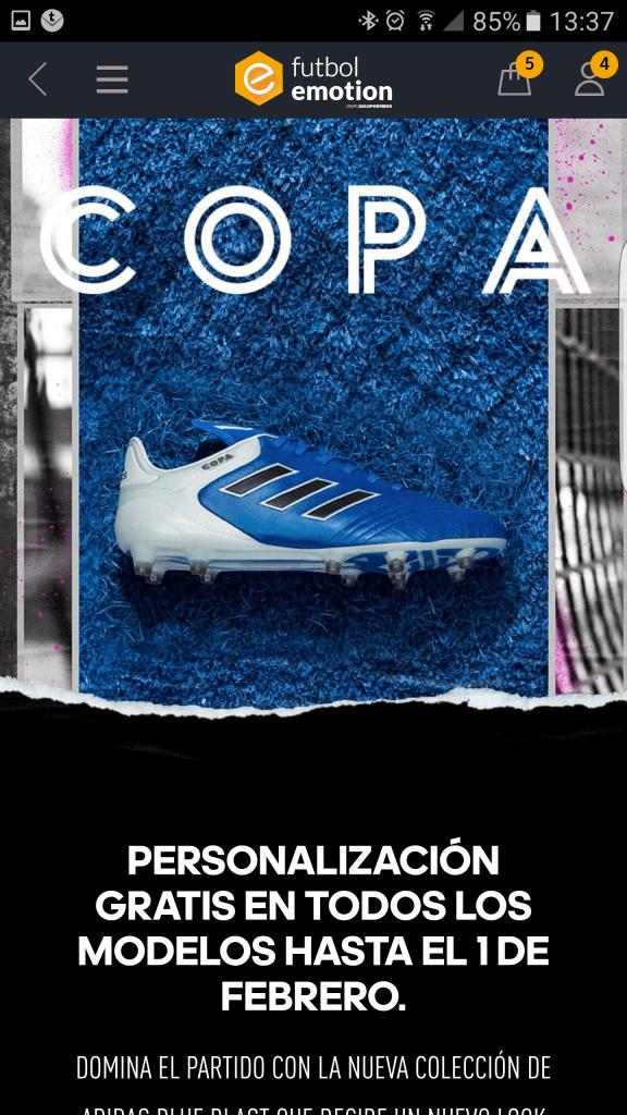 futbol emotion app personalizacion
