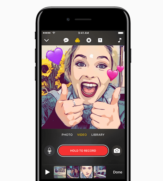 clips nueva app de apple snapchat